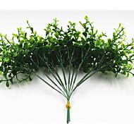 Недорогие -25см 10 шт. 10 листьев / ветка мини эвкалипта зеленая трава домашнее украшение искусственные цветы