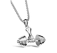 Men's Women's Pendant Necklaces Geometric Titanium Steel Hiphop Sports Jewelry For Party Holiday