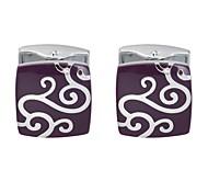 cheap -Clouds Purple Cufflinks Copper Stripes Valentine Men's Costume Jewelry