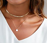 Недорогие -Жен. Круглый На каждый день Классический Ожерелья-бархатки Ожерелья с подвесками Медь Ожерелья-бархатки Ожерелья с подвесками ,
