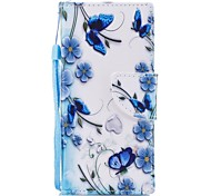cheap -Case For Sony Sony Xperia XA Xperia XA1 Xperia E5 Card Holder Wallet with Stand Flip Pattern Full Body Cases Butterfly Flower Hard PU