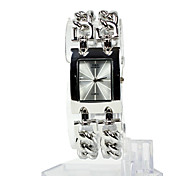 Women's Watch Square Radial Pattern Dial Bracelet Watch Cool Strap Watches Unique Watches Fashion Watch