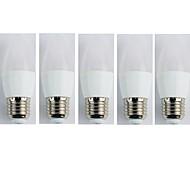 Недорогие -5 шт. 4W 300lm E27 Круглые LED лампы C35 6 Светодиодные бусины SMD 3528 Тёплый белый 110-240V