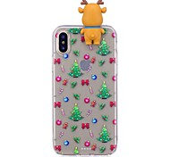 Case For Apple iPhone X iPhone 8 Plus Shockproof Back Cover Christmas 3D Cartoon Soft TPU for iPhone X iPhone 8 Plus iPhone 8 iPhone 7