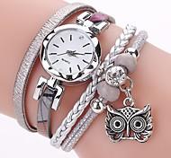 preiswerte -Damen Quartz Simulierter Diamant Uhr Armband-Uhr Chinesisch Imitation Diamant PU Band Freizeit Böhmische Modisch Schwarz Weiß Blau Grau
