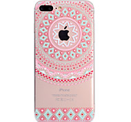 cheap -Case For Apple iPhone X iPhone 8 Plus Pattern Back Cover Lace Printing Soft TPU for iPhone X iPhone 8 Plus iPhone 8 iPhone 7 Plus iPhone