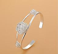 Недорогие -женский браслет из манжеты модный элегантный серебряный цветок ювелирные изделия для свадьбы