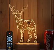 Недорогие -1 комплект из 3-х цельных деревянных светодиодных светильников с подсветкой usb для пульта дистанционного управления с подсветкой антилопы