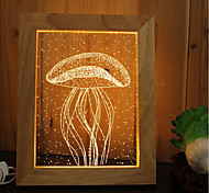 1 Set Of Home Decoration Acrylic 3D Night Light LED Lamp USB Mood Lamp, Photo Frame Light, Dimming, 3W, jellyfish