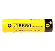 Недорогие -KLARUS 18650 2200mAh батарея Портативные Для профессионалов Простота транспортировки Высокое качество Легкость для 18650 Литий-ионный