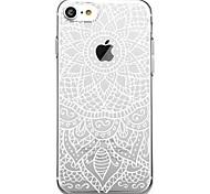Недорогие -Кейс для Назначение Apple iPhone 7 Plus iPhone 7 С узором Кейс на заднюю панель Мандала Мягкий ТПУ для iPhone X iPhone 8 Pluss iPhone 8