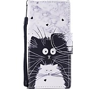 cheap -Case For Sony Sony Xperia XA Xperia XA1 Xperia E5 Card Holder Wallet with Stand Flip Pattern Full Body Cases Cat Hard PU Leather for Sony