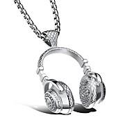 Недорогие -Универсальные Геометрический принт Ожерелья с подвесками - Титановая сталь Спорт Белый Ожерелье 1 Назначение Официальные, Новый год