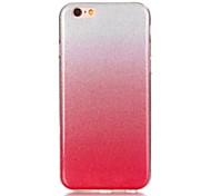 baratos -Capinha Para Apple iPhone 8 iPhone 8 Plus Ultra-Fina Capa traseira Glitter Brilhante Macia TPU para iPhone 8 Plus iPhone 8 iPhone 7 Plus