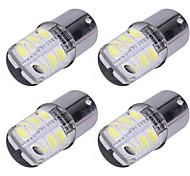4 pcs 1156 ba15s cob led voiture lumière 5050 smd 12 led frein blanc couleur clignotant ampoule cristal lampes dc12v