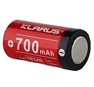 Недорогие -KLARUS 16430 батарея Портативные Для профессионалов Простота транспортировки Высокое качество Легкость для 16340 Литий-ионный