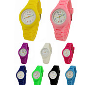 cheap -Quartz Wrist Watch Casual Watch Silicone Band Charm / Casual Black / White / Blue / Red / Green / Pink / Purple / Yellow