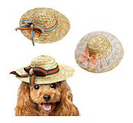 Недорогие -Кошка Собака Платки и шапочки Одежда для собак новый Плетеный Для отдыха Бант Бант Зеленый Розовый Радужный Костюм Для домашних животных
