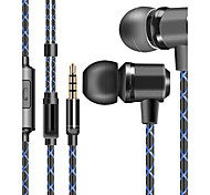 J1 In Ear Wired Headphones Dynamic Plastic Gaming Earphone with Microphone Headset