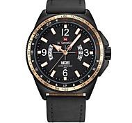 Недорогие -Муж. Наручные часы Повседневные часы Модные часы Нарядные часы Японский Кварцевый Календарь Секундомер Защита от влаги Натуральная кожа