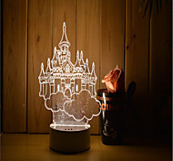 1 Set Of 3D Mood Night Light Hand Feeling Dimmable USB Powered Gift Lamp Castle