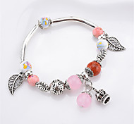 Women's Charm Bracelet Multi-stone Casual Fashion China Resin Alloy Leaf Geometric Jewelry For Daily Going out