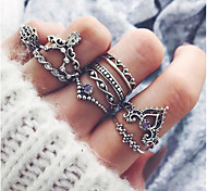 cheap -Women's Knuckle Ring 10pcs Silver Alloy Vintage Fashion Party Daily Costume Jewelry