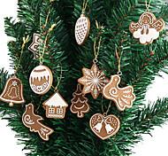 Недорогие -11-элементная полимерная глина fimo рождественская елка украшения снежинка колокол рождественский декор