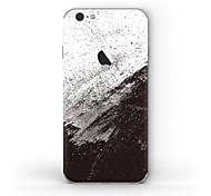 Недорогие -1 ед. Наклейки для Защита от царапин Черный и белый Узор Матовое стекло PVC iPhone 6s Plus/6 Plus