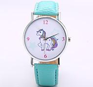 preiswerte -Herrn Damen Quartz Armbanduhr Chinesisch N / A PU Band Freizeit Minimalistisch Elegant Modisch Schwarz Orange Grün Lila Gelb Khaki