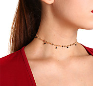 cheap -Women's Drop Crystal Choker Necklace Pendant  -  Simple Sweet Gold Silver Necklace For Party Daily