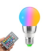 cheap -1pc 5W 400lm E27 LED Globe Bulbs 5 LED Beads SMD Decorative Remote-Controlled RGB+White 85-265V