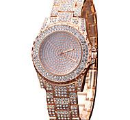 Mujer Reloj de Moda Reloj de Pulsera Reloj Casual Reloj de Cristal Pavé Cuarzo Aleación Banda Encanto Cool Casual Creativo De Lujo