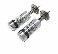 abordables -2pcs Bombillas 100W LED de Alto Rendimiento 20 Luz de Casco For Ford Focus 2014 / 2013 / 2012
