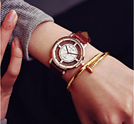 cheap -Men's Women's Quartz Skeleton Watch Sport Watch Chinese Chronograph Casual Watch Leather Band Casual Fashion Black White Brown