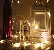 Недорогие -Водонепроницаемость 40 светодиоды 4M String Light Тёплый белый Холодный белый Синий Зеленый Красный Декоративная Новогоднее украшение для