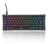 cheap -AJAZZ AK33-UK Wired RGB Backlit Red Switches Black Switches 83 Mechanical Keyboard Portable Backlit