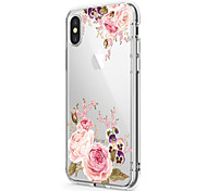 cheap -For iPhone X iPhone 8 Case Cover Ultra-thin Transparent Pattern Back Cover Case Flower Soft TPU for Apple iPhone X iPhone 8 Plus iPhone 8