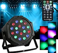 Недорогие -youoklight 18w привел парные огни rgb волшебный эффект сценический свет пульт дистанционного управления dmx512 ac100-240v