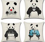 Недорогие -комплект из 4 любительских панды любовь семьи подушка крышка творческих 45 * 45 см подушка покрытия диван наволочка случае
