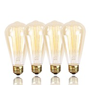 cheap -GMY® 4pcs 60W E26 / E27 ST64 Warm White 2200k Retro Dimmable Decorative Incandescent Vintage Edison Light Bulb 220-240V