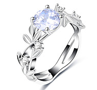 cheap -Women's Band Rings Synthetic Diamond Formal European Fashion Copper Glass Geometric Jewelry Wedding Party
