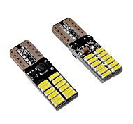 Недорогие -10pcs 4.8w 400lm can-bus ошибка бесплатно t10 w5w светодиодная лампа белого цвета желтая красная синяя зеленая розовая 6 цветов выборочная