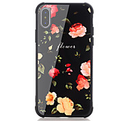 cheap -Case For Apple iPhone X iPhone 8 Shockproof Pattern Back Cover Word / Phrase Flower Hard Tempered Glass for iPhone X iPhone 8 Plus iPhone