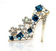 Недорогие -Жен. Броши Синтетический аквамарин Синтетический алмаз Классика Мода Хрусталь Искусственный бриллиант Сплав Обувь на высоких каблуках
