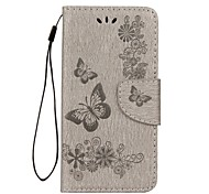 cheap -Case For Huawei P8 Lite (2017) P10 Lite Card Holder Wallet with Stand Flip Embossed Full Body Butterfly Hard PU Leather for P10 Plus P10