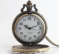 Men's Pocket Watch Quartz Alloy Band Luxury Bronze