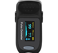 Accurate FS20B OLED Fingertip Pulse Oximeter Oximetry Blood Oxygen Saturation Monitor Black Color