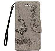 cheap -Case For Sony Xperia XA Ultra Sony Xperia XZ Xperia XZ Premium Card Holder Wallet with Stand Flip Embossed Full Body Cases Butterfly Hard