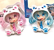 economico -Figure Anime Azione Ispirato da Vocaloid Snow Miku 7 CM Giocattoli di modello Bambola giocattolo